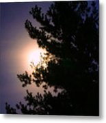 Moon Magical Glow Metal Print