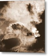 Moon Man Devours The Sun Metal Print
