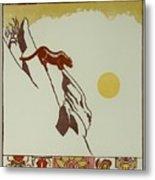 Moon Of Red Chokecherries Metal Print