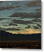 Moon Over Albuquerque Metal Print