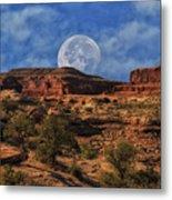 Moon Over Canyonlands Metal Print