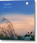 Moon Over Casapaz Metal Print