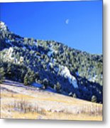 Moon Over Chautauqua Metal Print