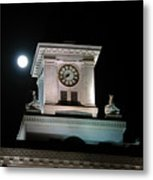 Moon Over City Hall Metal Print