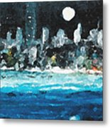 Moon Over Miami Metal Print by Jorge Delara