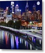 Moon Over Philly Metal Print