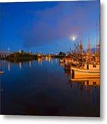 Moon Over Sitka Marina Metal Print by Mike  Dawson