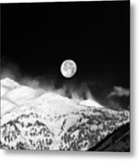 Moon Over The Alps Metal Print
