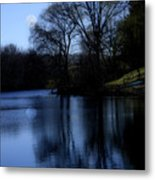 Moon Over The Charles Metal Print