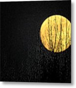 Moon Over The Trees Metal Print