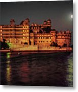 Moon Over Udaipur Metal Print