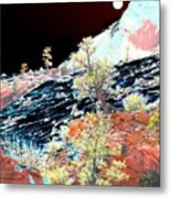 Moon Over Utah Metal Print
