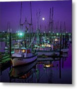 Moon Over Winchester Bay Metal Print