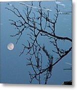 Moon Reflection Metal Print