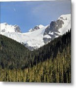 Moon Rise Over Matier Glacier At Joffre Lakes Metal Print