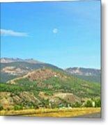 Moon Shine On Anaconda Montana  Metal Print