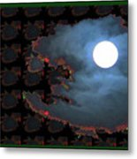 Moon Through Clouds  Photography With Graphic Flavour Created By Navinjoshi At Fineartamerica.co Metal Print