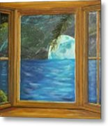 Moon Window Metal Print