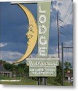 Moon Winx Lodge Sign Metal Print