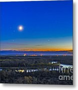 Moon With Antares, Mars And Saturn Metal Print
