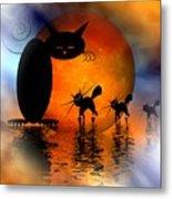 Mooncat's Catwalk Metal Print by Issabild -