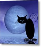 Mooncat's Loneliness Metal Print by Issabild -