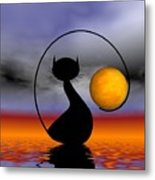 Mooncat's Waiting  Metal Print by Issabild -
