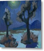 Moonlight And Joshua Tree Metal Print