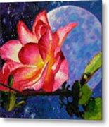 Moonlight And Roses Metal Print