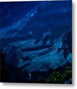 Moonlight At Grand Canyon Metal Print