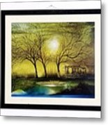 Moonlight At Masinagudi Metal Print