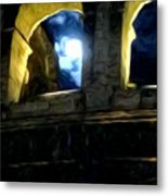Moonlight At The Colosseum Metal Print