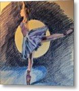 Moonlight Ballerina Metal Print