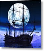 Moonlight Bay Metal Print
