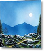 Moonlight Hike Metal Print