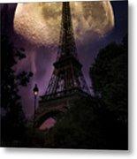 Moonlight In Paris Metal Print