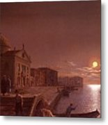 Moonlight In Venice Henry Pether Metal Print