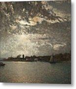Moonlight Mood, The Stockholm Inlet  Metal Print