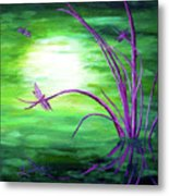 Moonlight On Green Water Metal Print
