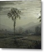 Moonlight On Mount Lafayette Metal Print