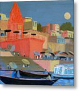 Moonlight On The Ghats Metal Print