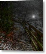 Moonlight On The River Bank Metal Print
