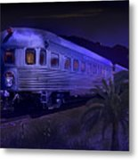 Moonlight On The Sante Fe Chief Metal Print