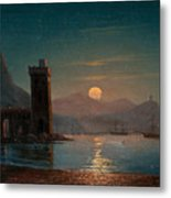 Moonlight Reflecting On Water Metal Print
