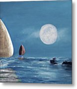 Moonlight Sailnata 4 Metal Print