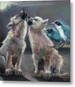 Moonlight Serenade Metal Print by Carol Jobe