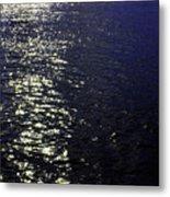 Moonlight Sparkles On The Sea Metal Print