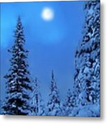 Moonlight  Through The Twilight Haze Metal Print