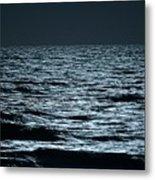 Moonlight Waves Metal Print