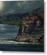 Moonlit Cove Metal Print